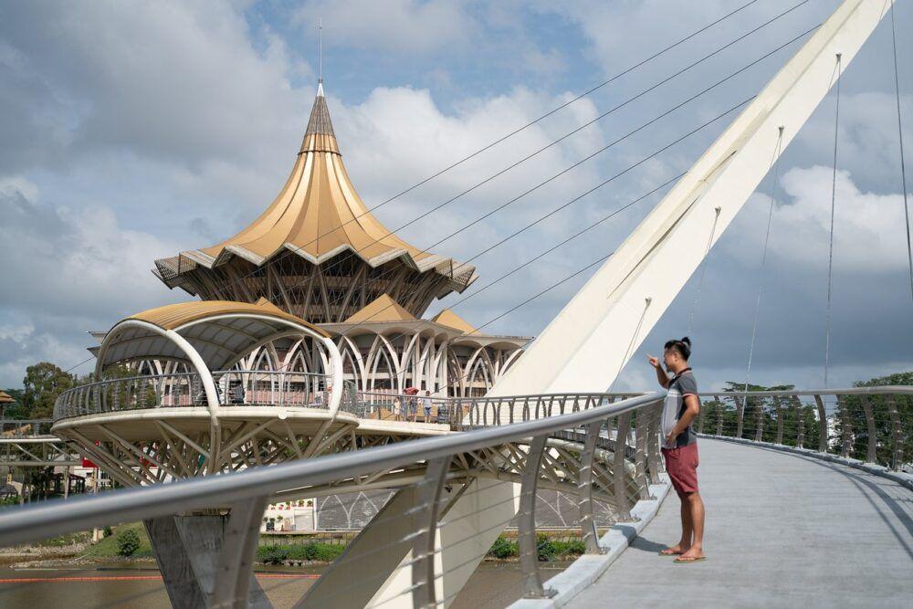 Promenade sur le front de mer de Kuching