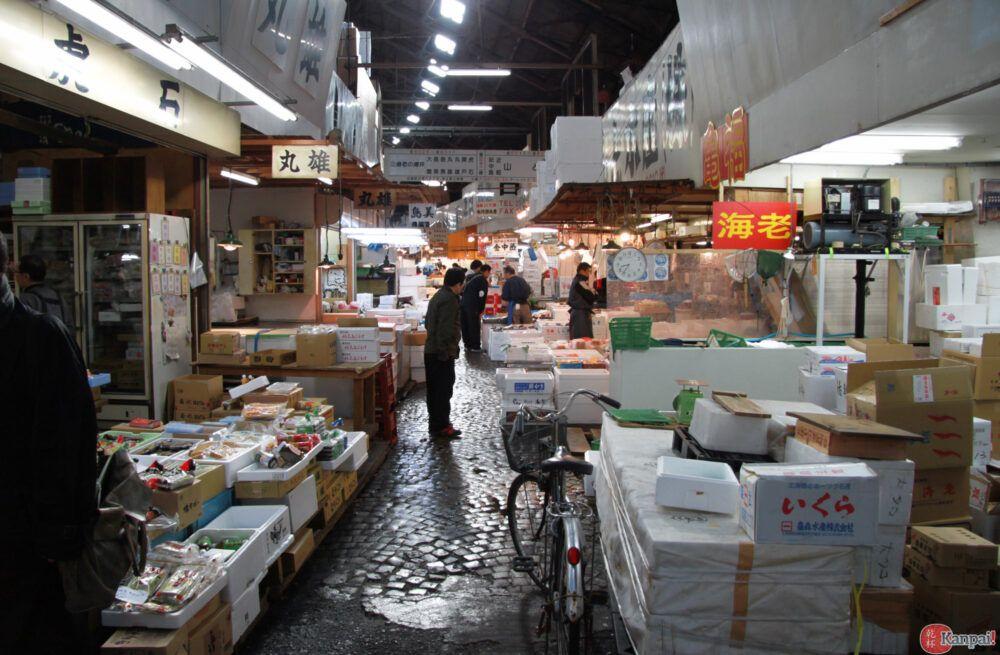 Voir un marché aux poissons animé à Tokyo
