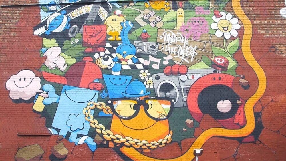 Admirez les murales de Hollywood Road