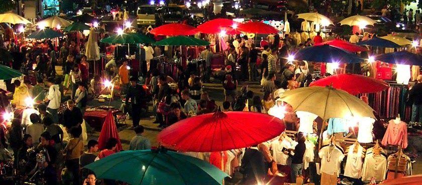 Bazar de nuit Place Chiang Mai