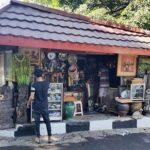 Achats au marché d'antiquités de Jalan Surabaya en Indonésie