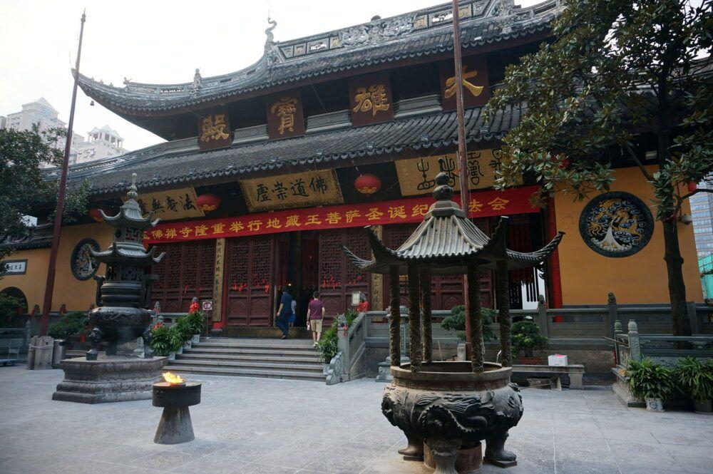 Déjeuner au temple du Bouddha de Jade