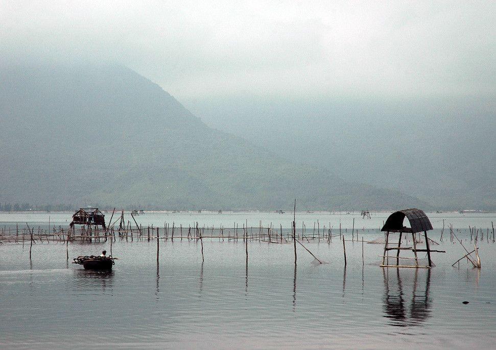 Filets de pêche à Lang Co