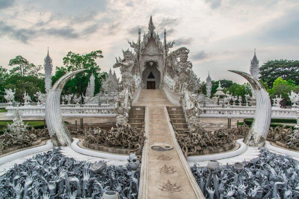 Itinéraire vers le temple blanc de Chiang Rai