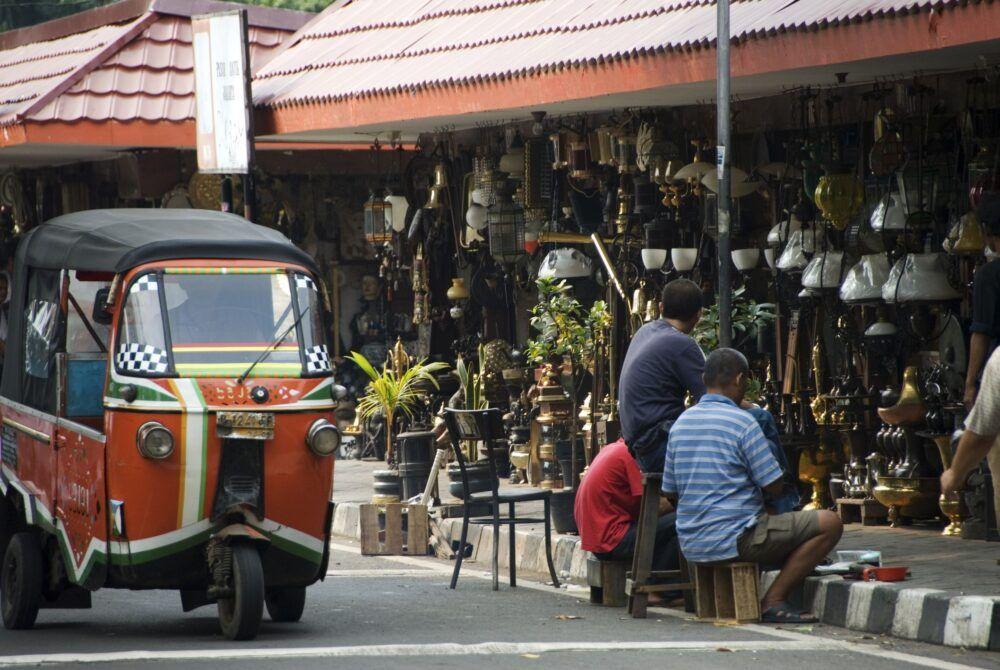 Jalan Surabaya à Jakarta, Indonésie
