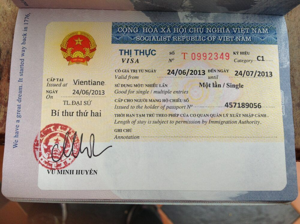 Visas pour les voyageurs au Vietnam