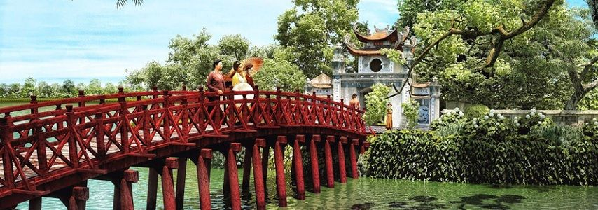 Visite du temple de Ngoc Son