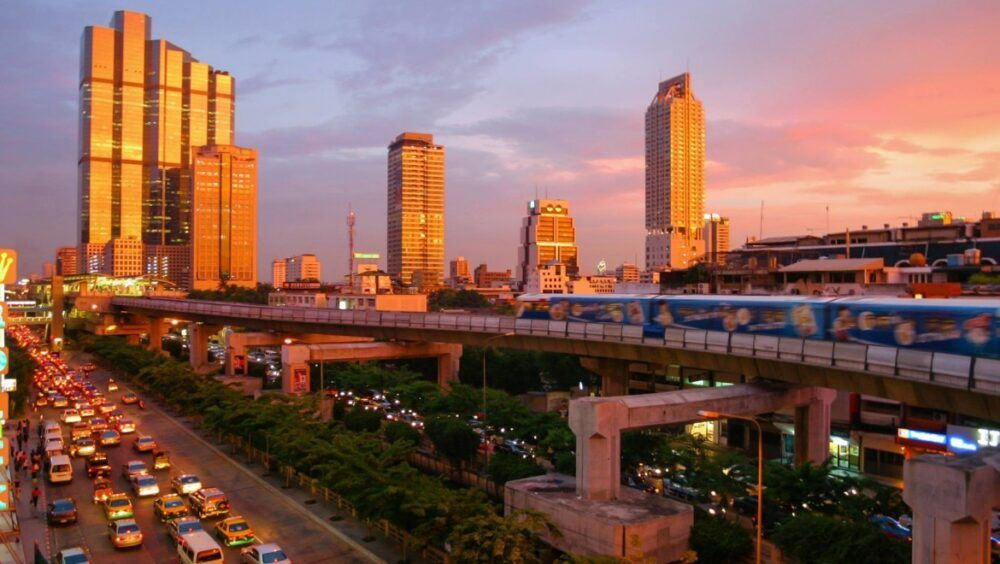 Zones populaires en Thaïlande